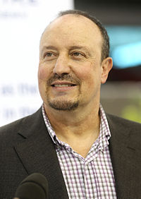 Rafael Benítez, Valencia's most successful coach, with two league titles and one UEFA Cup over the period of three years.