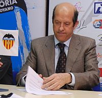 Manuel Llorente, the 35th president of Valencia.