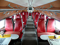 Interior view of a preserved Ilyushin Il-14 once operated by Interflug (2008).