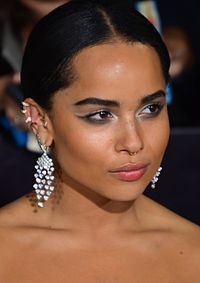 Kravitz at the premiere of Divergent in 2014