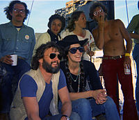 Kristofferson with Rita Coolidge at the 1972 Dripping Springs Reunion