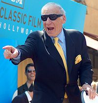 Brooks at his Hollywood Walk of Fame ceremony, April 2010