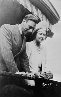 King George VI and Queen Elizabeth at Hope, British Columbia.