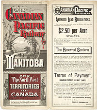 One of the CPR's land offerings, 1883.
