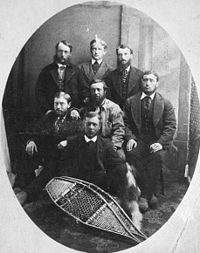 Unidentified engineers of the Canadian Pacific Railway Survey, 1872.