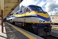 West Coast Express at Waterfront station in Vancouver