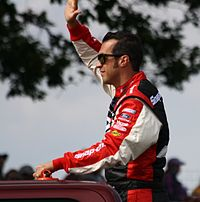 Sam Hornish Jr. finished second behind Dillon in the championship by just three points.
