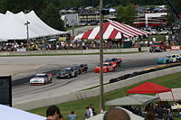 Starting field in Turn 5 at Road America