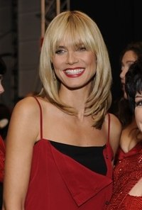 Klum at The Heart Truth Fashion Show in February 2008