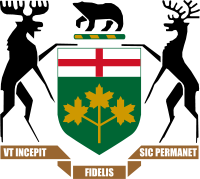 Arms of the Government of Ontario.