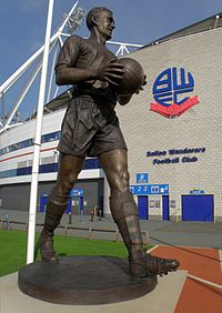 Nat Lofthouse spent his entire career from 1946 to 1960 with Bolton, scoring 255 league goals