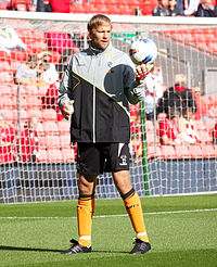 Jussi Jääskeläinen is equal third on Bolton Wanderers' record appearance list, making 530 appearances between 1997 and 2012