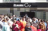The Cristiano Ronaldo Museum, CR7, in Funchal, Madeira. It was opened on 15 December 2013.
