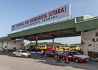The North Bus Terminal in Inanam serves long-distance buses bound for the north and east of Sabah.