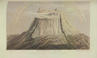 """""""Kina Balu from Pinokok Valley"""" – lithograph published in 1862."""