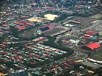An aerial view of Likas Sport Complex with Likas Stadium, which is the home stadium for Sabah FA.