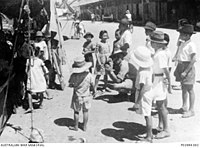 Children in Jesselton filmed by Australian government representative a year after the war in 1946.