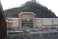 Walmart Supercenter in Grundy, Virginia (Store #3303). This store was built as part of a $200 million revitalization project. The store was built on top of a two-story parking garage, the only one of its kind in the United States.
