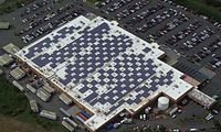 Solar modules mounted on a Walmart Supercenter in Caguas, Puerto Rico (Store #2449)