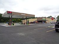 A Walmart Express branded as a Walmart Neighborhood Market in Alma, Georgia in September 2015 (Store #4229). This location closed in 2016 as part of a plan to close 269 stores globally.