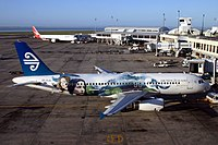 Air New Zealand painted this Airbus A320 in The Lord of the Rings livery to promote The Return of the King in 2004.