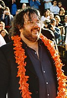 Peter Jackson at the premiere of The Lord of the Rings: The Return of the King on 1 December 2003 at the Embassy Theatre in Wellington.