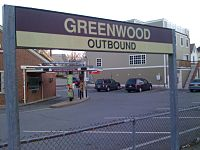 This commuter rail station in Wakefield bears the name of Greenwood, one of its neighborhoods.