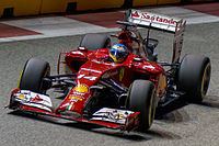 Alonso at the 2014 Singapore Grand Prix