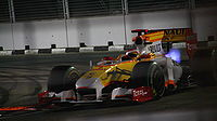 Alonso took his only podium of 2009 at Singapore