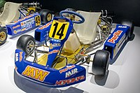 The go-kart Alonso drove to win the Karting World Championship in 1996