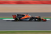 Alonso driving for McLaren at the 2017 British Grand Prix