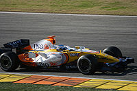 Alonso testing for Renault in January 2008