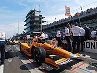 Alonso's car prior to the 2017 Indianapolis 500