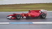 Alonso won the 2010 German Grand Prix in controversial circumstances