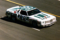 DiGard Gatorade Chevrolet Monte Carlo that Waltrip drove to victory in the 1978 World 600, Concord, NC, May 28, 1978