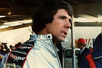 Darrell Waltrip, discussing his 5th-place finish and prospects for winning his first NASCAR driving championship after the Dixie 500, Atlanta Motor Speedway, November 4, 1979, driving his DiGard Gatorade Chevrolet Monte Carlo