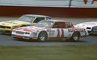 1985 Budweiser Chevrolet Monte Carlo owned by Junior Johnson, and driven by Waltrip to the 1985 NASCAR driving championship