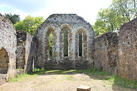 Ruins of the monks' dormitory at Waverley Abbey