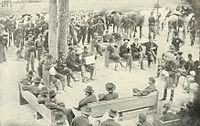 Grant and his staff at Massaponax Church, Virginia, May 21, planning movements to the North Anna