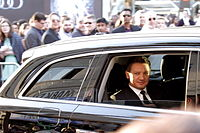 Renner arriving at the world premiere of Avengers: Age of Ultron