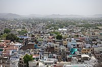 alt=Udaipur from the City Palace A view on Udaipur as seen from the City Palace