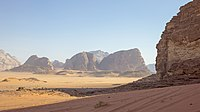 Wadi Rum in Jordan served as the location for the desert planet Pasaana.