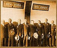 New Jersey-New York border in the newly constructed Holland Tunnel.