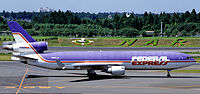 A Federal Express McDonnell Douglas MD-11 in 1995