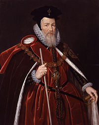 William Cecil, 1st Baron Burghley (1520–1598), in Garter robes