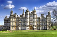 Burghley House (1555–1587), seat of the Marquess of Exeter, hereditary Lord Paramount of Peterborough
