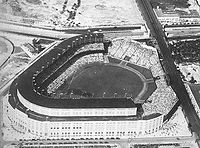 Aerial view of Yankee Stadium as it looked from 1928 to 1936, before nighttime baseball