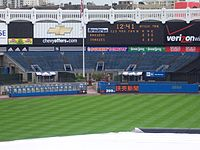 Monument Park, the LF bleachers, the bullpens, and the retired numbers