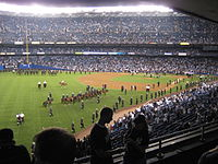 Yankee Stadium after the last game was played on September 21, 2008.