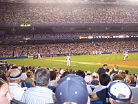 The infield during a night game